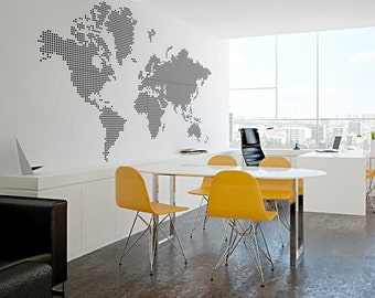office wall decor sketch map of the world decal wares decor by