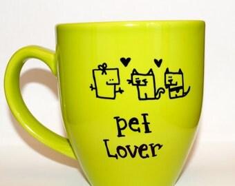 Hand Drawn Pet Lover Mug (Customizable)