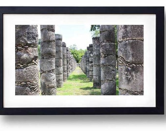 Mayan Temple Pillars: Chichen Itza  was one of the greatest Mayan cities of the Yucatán peninsula.