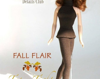 """Sewing pattern for 11 1/2"""" doll (Barbie): Top & Tights"""