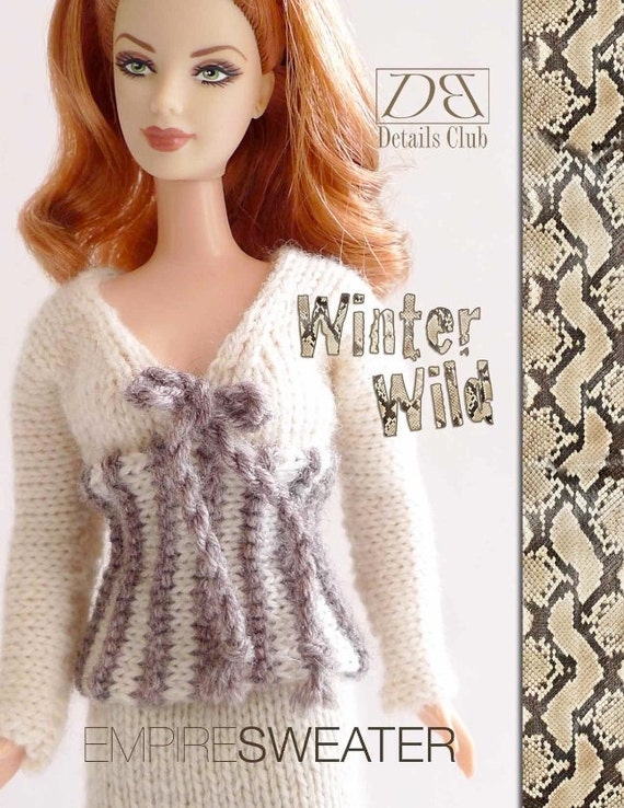 Knitting pattern for 11 1/2 doll Barbie: Empire