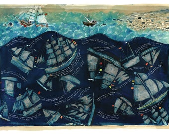 Lost Sea Stories - Signed and numbered art print by Dorry Spikes