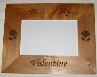 Personalized Wood Picture Frame - Be My Valentine