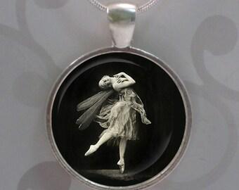 Vintage Prima Ballerina Pendant & Descriptive Bookmark Set