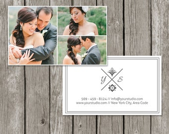 Wedding Photographer Business Card Template - Photography Business Card Design (Printable) - BC03