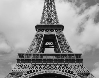 Eiffel Tower Photography - Architecture Photography, France Photography, Paris Photography, Black and White, Home decor, Cool Home Decor