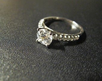 Classic Designer Inspired 1ct Engagement Ring, Made to Order