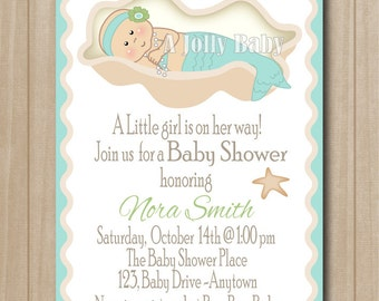 little mermaid baby shower invitations images pictures becuo