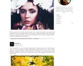 STYLIN black and white blog design, fashion blogger template, simple blog design, minimalist blog template