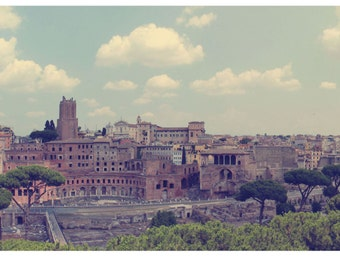 Ancient Rome panoramic photograph, fine art photo print, landscape, panorama, Rome, Italy, Europe