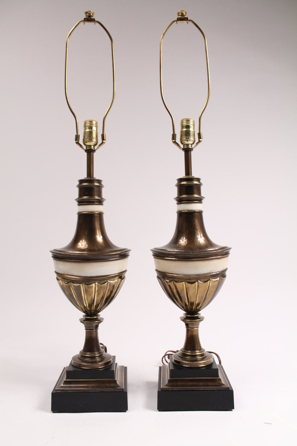 2 Stiffel Table Lamps 36 In Tall Prime Quality Brass