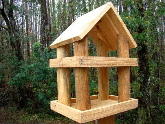 Amazing Cedar Wood Rustic Birdfeeder Gazebo Style Large Wooden Barn Interior Design Ideas Philsoteloinfo