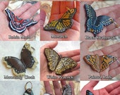 Butterfly Moth Keychain and Purse Charm - Choose Your style