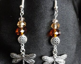 Outlander Inspired Dragonfly Earrings,