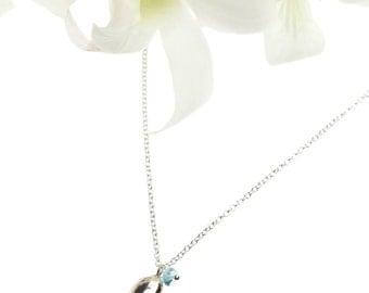 Silver Bean Necklace/ Bean Necklace/ Silver Necklace/ Twig Designs/ Handcrafted