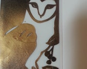 Owl and Mouse, Hunter and Hunted, Paper Cut Bookmark