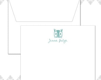 Owl Stationery Set with 10 cards and envelopes