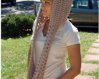 DIGITAL DOWNLOAD for Scoodie (Scarf/Hoodie) Crochet Pattern
