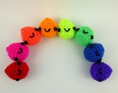 Crochet Slime Droplet / Amigurumi Slime / Slime Plush - Choose Your Own Slime Droplet Plushie, Neons - Made to Order