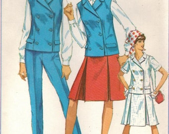 1960s Simplicity 6886 UNCUT Vintage Sewing Pattern Misses Jacket, Skirt, Slacks Size 14 Bust 34