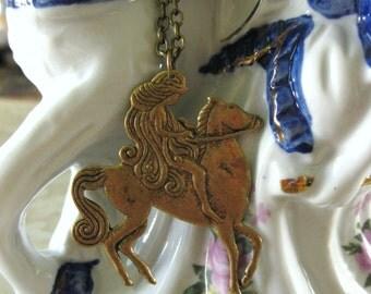 A DRESS of LOCKS - Lady Godiva necklace vintage brass