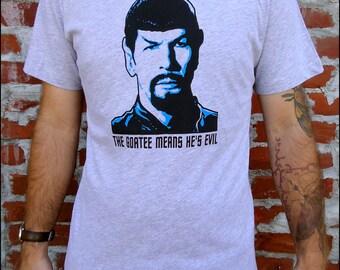 10 Dollar Sale-- Evil Spock Men's  Heathered Gray Tshirt