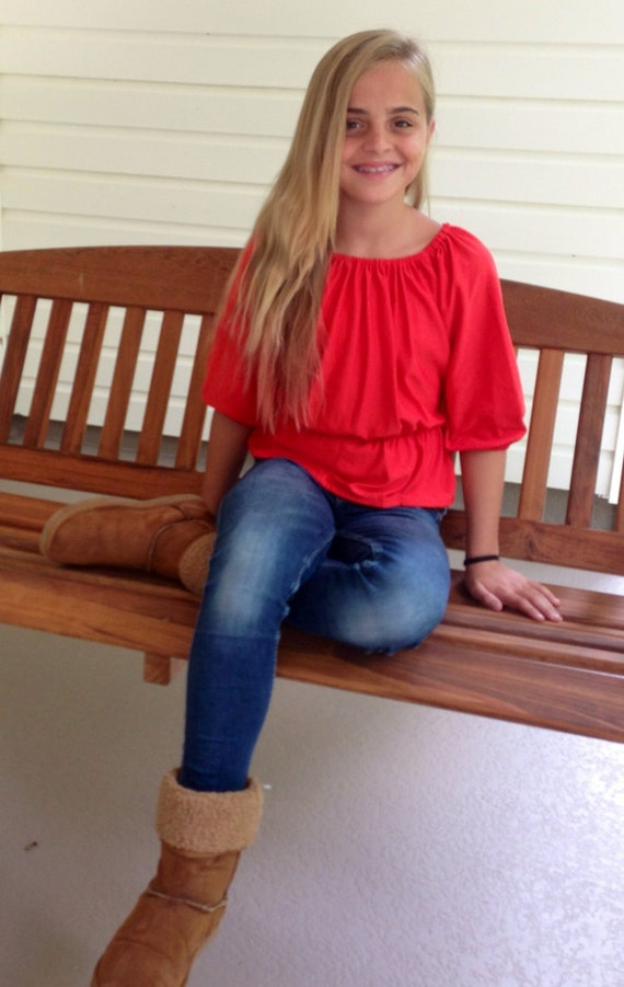 Vintage Red Barbaras Angel Top Free Shipping
