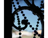 Mardi Gras Beads Photograph, New Orleans, Architectural, Ornamental Detail, Abstract Photograph, Silhouette, Fat Tuesday, Travel Photography