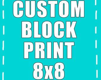 8 x 8 Custom Printed Photo Wood Block - Your Image Here