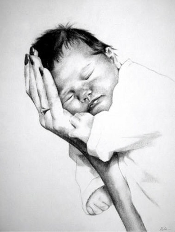 Baby Portraits - Comission a custom portrait from your favorite photograph