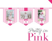 INSTANT DOWNLOAD Pretty in Pink Party - DIY printable photo banner kit