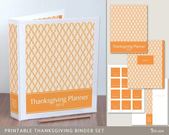 Items similar to Thanksgiving Planner Binder Printables ...