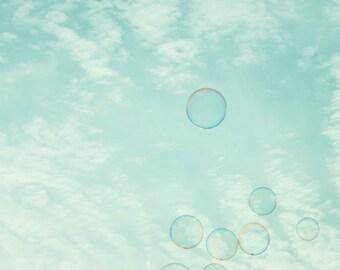 Bubble photography, kids bathroom art, bubble print, bubble bathroom, bubble bathroom art, aqua blue art, bubble photo, bubble wall art