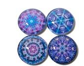 Violet Purple Fridge Magnets, Colorful Mandalas , Violet, Purple, Chakra Healing