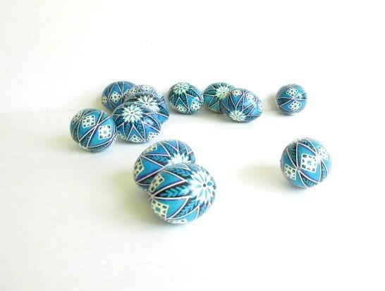 one blue pysanka egg ukrainian easter egg by