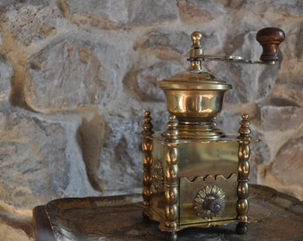 Vintage Brass Coffee Grinder