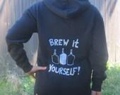 Beer Hoodie - Brew It Yourself - Extra Large Hooded Sweatshirt - homebrew hoody shirt, sweater oversize  brew, unisex, women, men, ferment