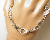 Fifty Shades of Grey Handcuff Bracelet, Unisex Hand Cuff Bracelet, 50 Shades of Gray Jewelry, Police BDSM Jewelry Bondage Jewelry Dominatrix