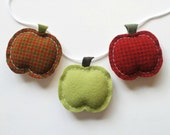 Farmers Market Apple Garland - Primitive Country Bunting - Gardening Home Decor