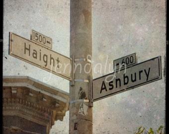 haight ashbury sign - san francisco print - ttv photography - california wall art