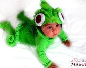 Rapunzel's Chameleon Pascal inspired baby costume