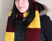 Harry Potter Costume Inspired Halloween Any House Scarf and Slouch Beanie Set - Winter Warm Accessories by JulianBean