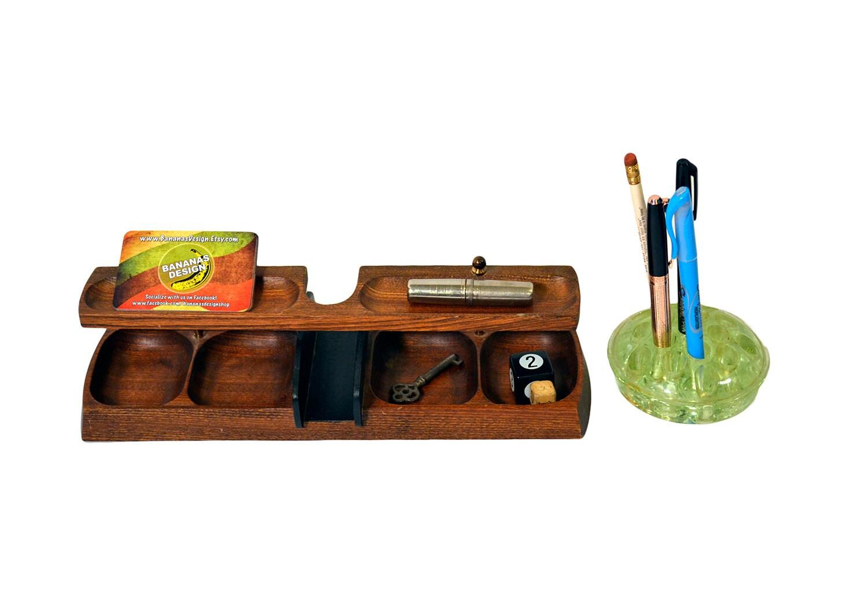 Model Vintage Wood Organizer  Desk Organizer By HavenVintage On