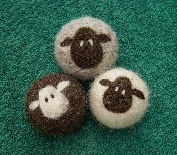 Lynn's Lids felted wool dryer balls