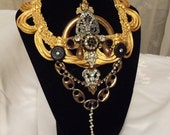 Necklace Statement jewelry, One of a kind necklace, Elegant Neck Piece, Marelle jewellery, RESERVED for Fashion Week
