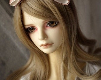 Ribbon Bow Knot Hair Band for BJD SD and MSD Dolls 10 Colors Available (Type 1)