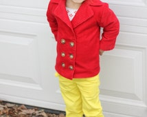 Olivia and Oliver Pea Coat: Boys Pea Coat Pattern, Girls Pea Coat Pattern, Baby & Toddler Coat Pattern