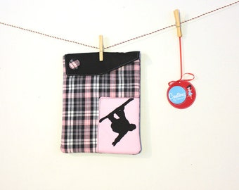 iPad Sleeve - Plaid Snowboarder ipad cover