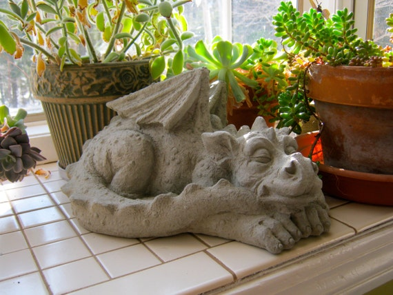 Dragon Statue Concrete Dragons Medieval Monster Large