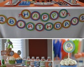DIY printable birthday party package - retro robot